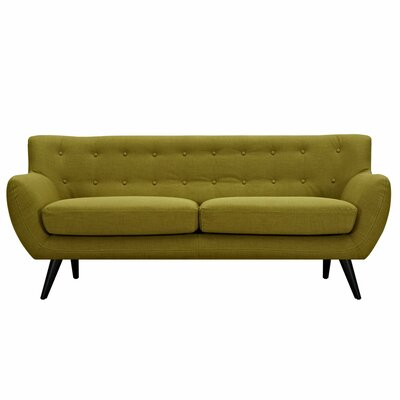 Ida Sofa Frame Finish: Black, Upholstery: Avocado Green