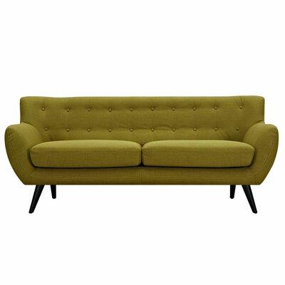 Ida Sofa Upholstery: Avocado Green, Frame Finish: Black