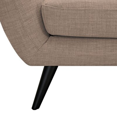 Ida Armchair Leg Finish: Black, Upholstery Color: Light Sand