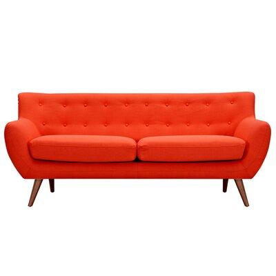 Ida Sofa Frame Finish: Walnut, Upholstery: Retro Orange