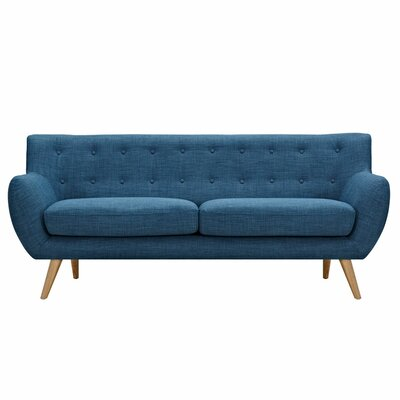 Ida Sofa Upholstery: Stone Blue, Frame Finish: Natural