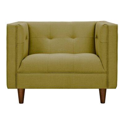Kaja Armchair Upholstery: Avocado Green, Finish: Walnut