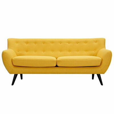 Ida Sofa Upholstery: Papaya Yellow, Frame Finish: Black