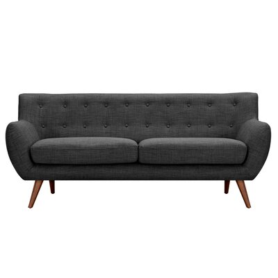 Ida Sofa Frame Finish: Walnut, Upholstery: Charcoal Gray