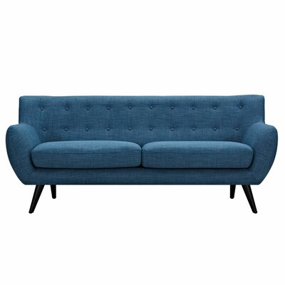 Ida Sofa Frame Finish: Black, Upholstery: Stone Blue