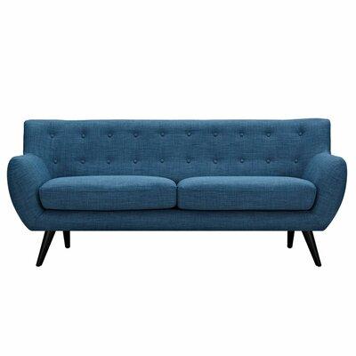 Ida Sofa Upholstery: Stone Blue, Frame Finish: Black