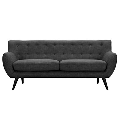Ida Sofa Frame Finish: Black, Upholstery: Charcoal Gray