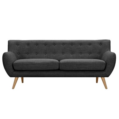 Ida Sofa Frame Finish: Natural, Upholstery: Charcoal Gray