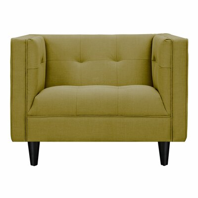 Kaja Armchair Finish: Black, Upholstery: Avocado Green