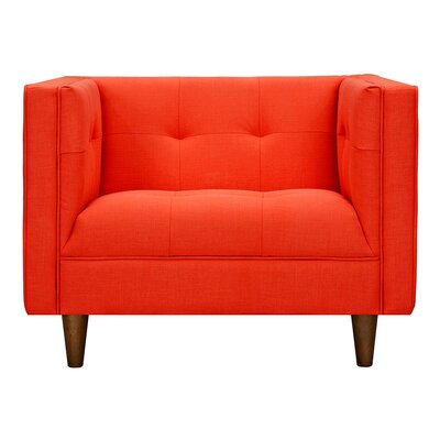 Kaja Armchair Upholstery: Retro Orange, Finish: Walnut
