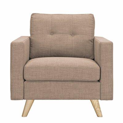 Uma Arm Chair Finish: Natural, Upholstery: Light Sand