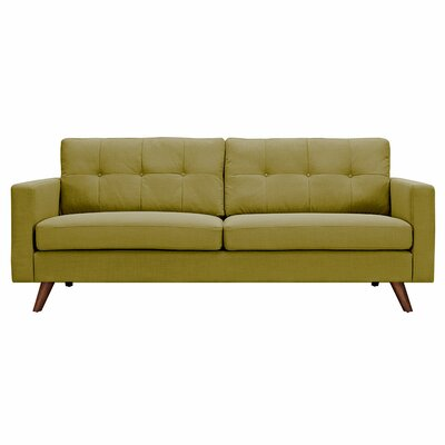 Uma Sofa Upholstery: Avocado Green, Finish: Walnut