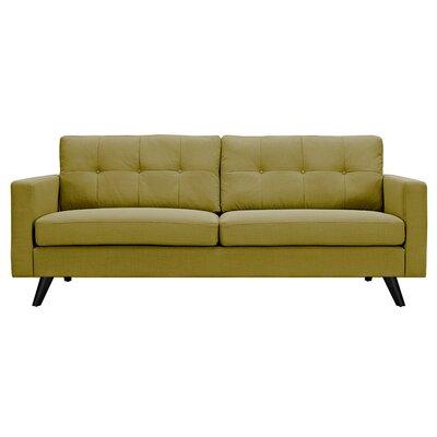 Uma Sofa Upholstery: Avocado Green, Finish: Black