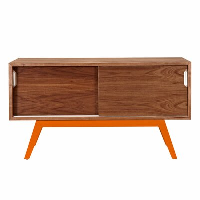 Elsa Server Finish: Orange/Walnut
