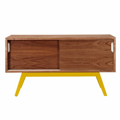 Elsa Server Color: Yellow/Walnut