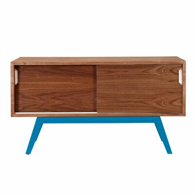 Elsa Server Color: Blue/Walnut