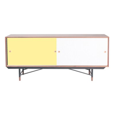 Soren Credenza Color: Yellow
