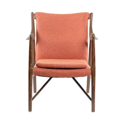 Gustaf Guest Chair Seat Color: Retro Orange