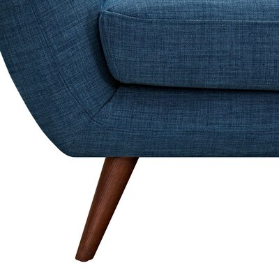 Ida Armchair Leg Finish: Walnut, Upholstery Color: Stone Blue