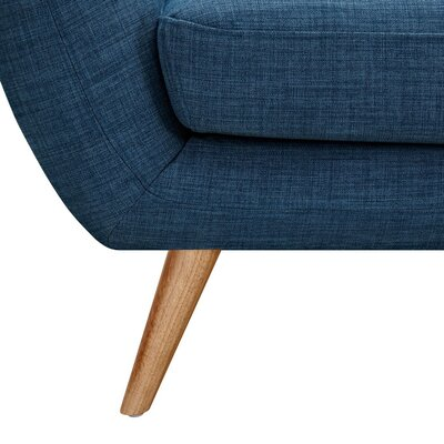 Ida Arm Chair Leg Finish: Natural, Upholstery Color: Stone Blue