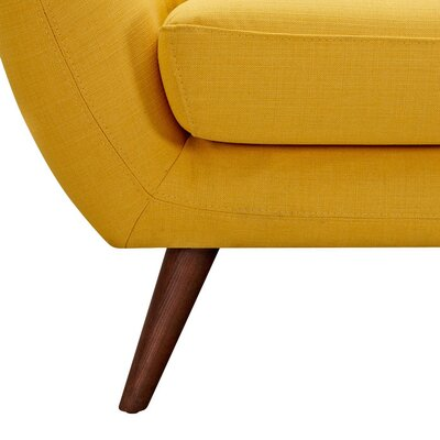 Ida Armchair Leg Finish: Walnut, Upholstery Color: Papaya Yellow
