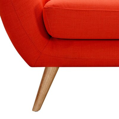 Ida Armchair Leg Finish: Natural, Upholstery Color: Retro Orange