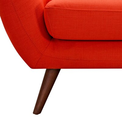 Ida Armchair Leg Finish: Walnut, Upholstery Color: Retro Orange