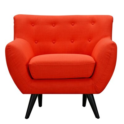 Ida Armchair Leg Finish: Black, Upholstery Color: Retro Orange