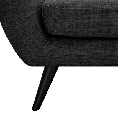 Ida Armchair Upholstery: Charcoal Gray, Leg Finish: Black