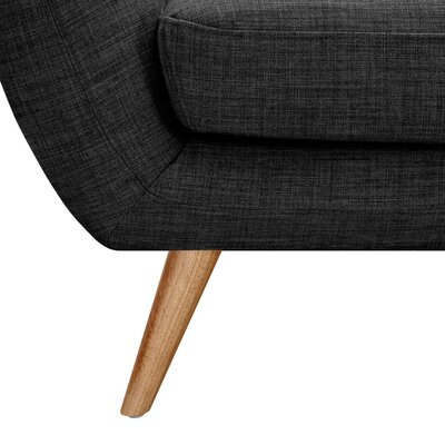 Ida Armchair Leg Finish: Natural, Upholstery Color: Charcoal Gray
