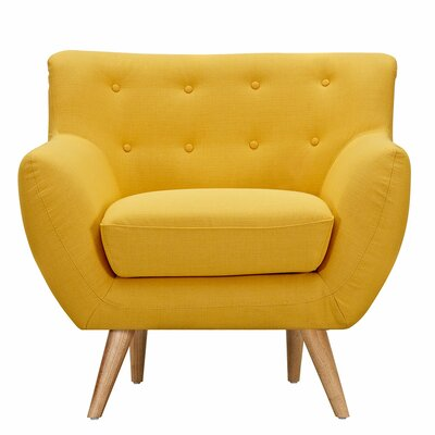 Ida Armchair Upholstery: Papaya Yellow, Leg Finish: Natural