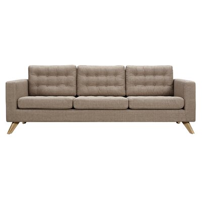Mina Sofa Upholstery: Light Sand, Finish: Natural