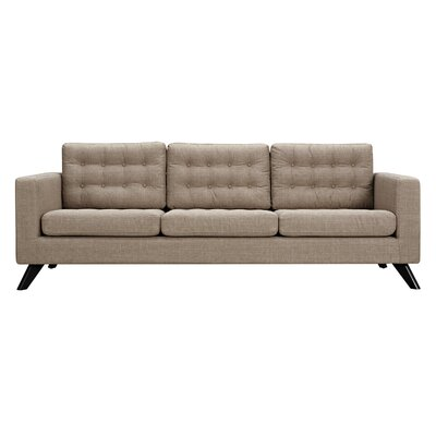 Mina Sofa Upholstery: Light Sand, Finish: Black