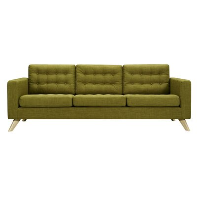 Mina Sofa Upholstery: Avocado Green, Finish: Natural