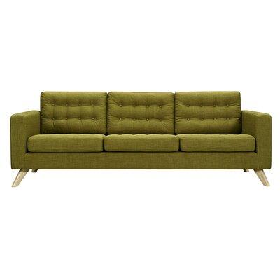 Mina Sofa Upholstery: Avocado Green, Finish: Natural