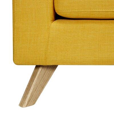 Mina Sofa and Ottoman Finish: Natural, Upholstery: Papaya Yellow