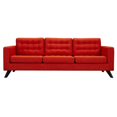 Mina Sofa Finish: Black, Upholstery: Retro Orange