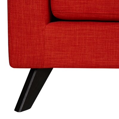 Mina Sofa and Ottoman Finish: Black, Upholstery: Retro Orange