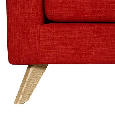 Mina Sofa and Ottoman Finish: Natural, Upholstery: Retro Orange