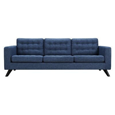 Mina Sofa Finish: Black, Upholstery: Stone Blue