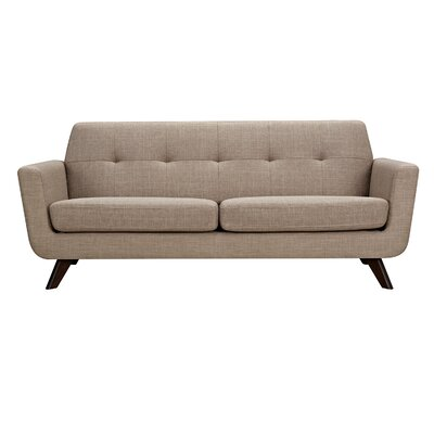 Dania Sofa Upholstery: Light Sand, Finish: Walnut