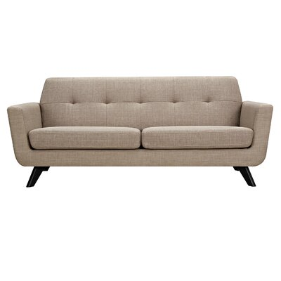 Dania Sofa Upholstery: Light Sand, Finish: Black
