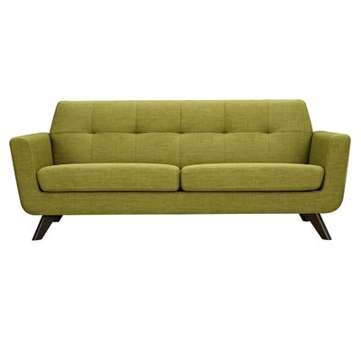 Dania Sofa Upholstery: Avocado Green, Finish: Walnut