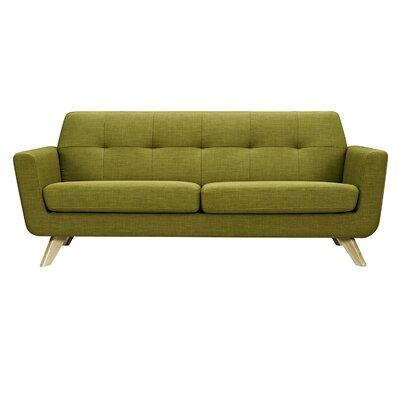 Dania Sofa Upholstery: Avocado Green, Finish: Natural