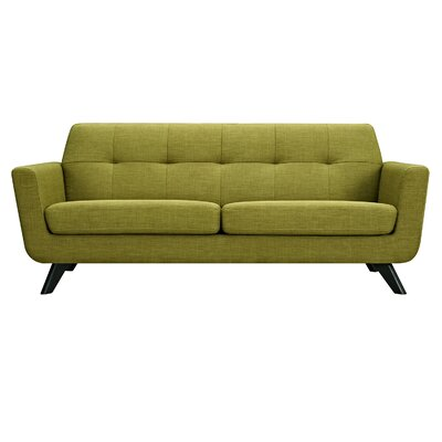 Dimond Sofa Upholstery: Avocado Green, Finish: Black