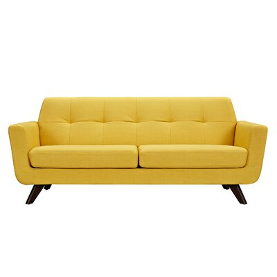 Dimond Sofa Upholstery: Papaya Yellow, Finish: Walnut
