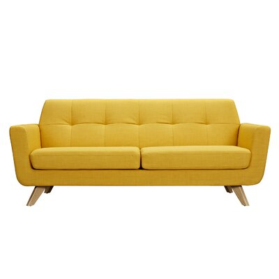 Dania Sofa Upholstery: Papaya Yellow, Finish: Natural