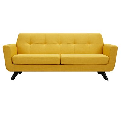 Dania Sofa Upholstery: Papaya Yellow, Finish: Black