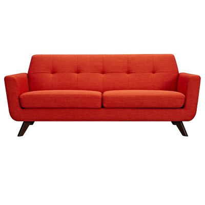 Dimond Sofa Upholstery: Retro Orange, Finish: Walnut