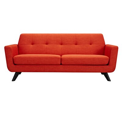 Dania Sofa Finish: Black, Upholstery: Retro Orange